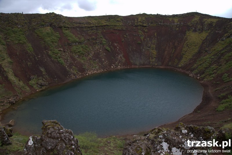 Krater Kerid Islandia Iceland