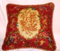Country french pillows,decorator french pillows, toile ...