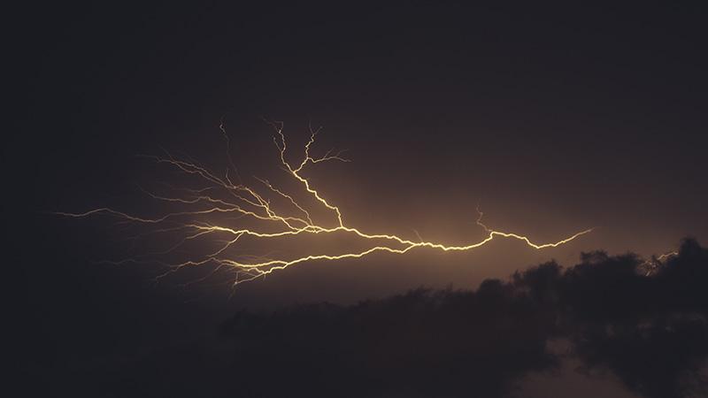 強めの台風がきました