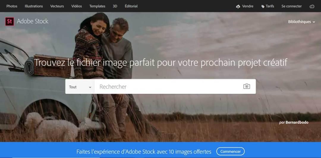 Capture d'écran Abode Stock
