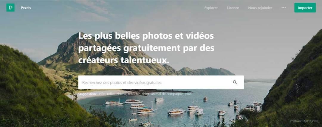 Capture d'écran Pexels