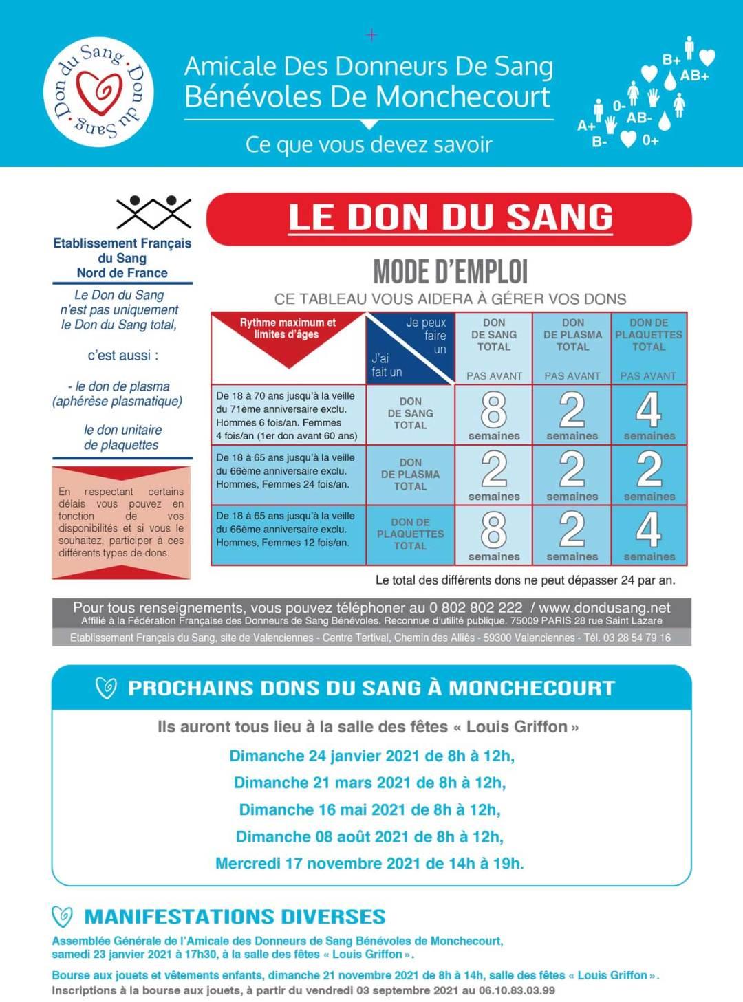 Calendrier Don Du Sang - Monchecourt - Aperçu 3