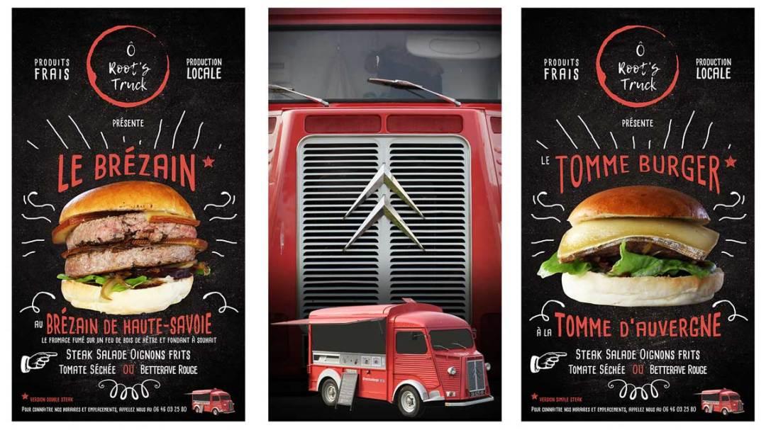 Présentation générale des burgers du mois O Root's Truck