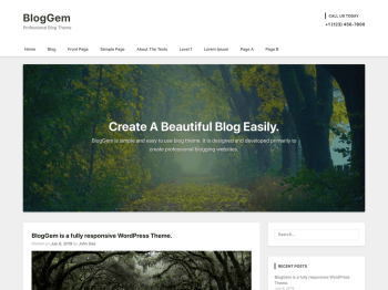 BlogGem Screenshot