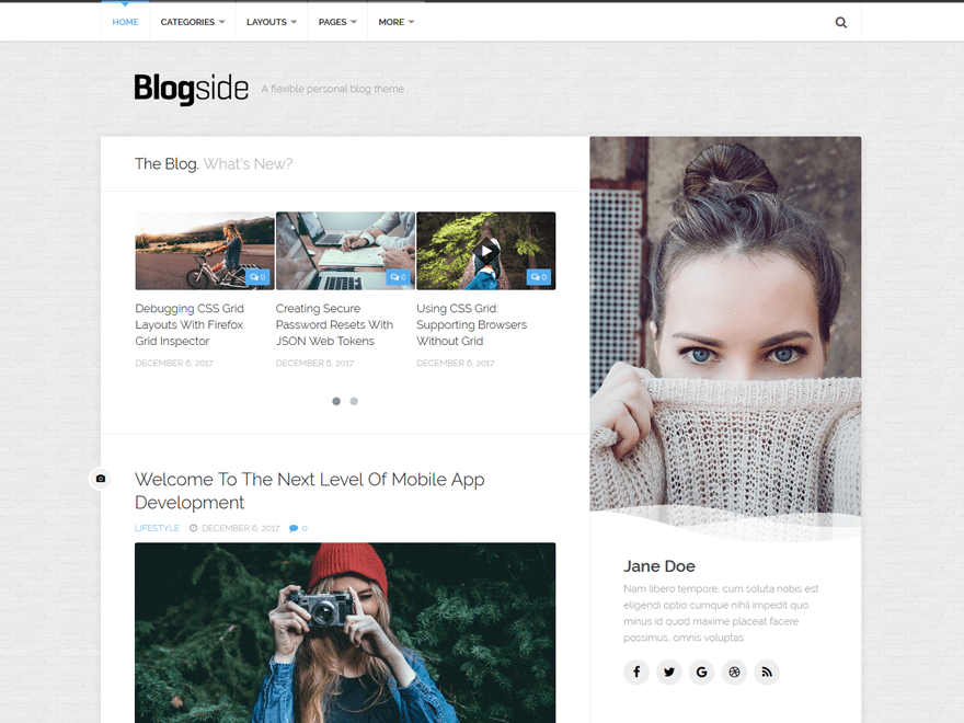 Blogside Screenshot