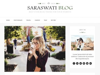 Saraswati Blog Screenshot