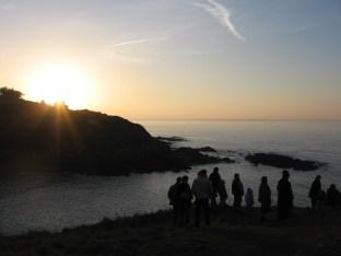 La public de la couche de la soleil