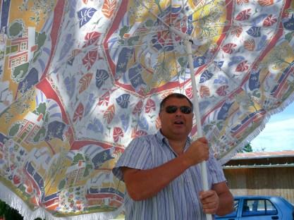 Jean Michel és a napernyő
