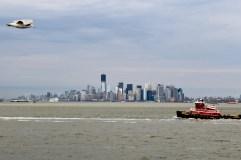 Manhattan, hajó, sirály - Manhattan, bateau, mouette