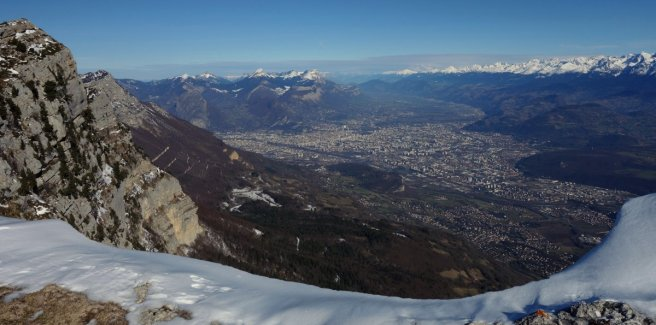 Grenoble vu de la crête du Vercors