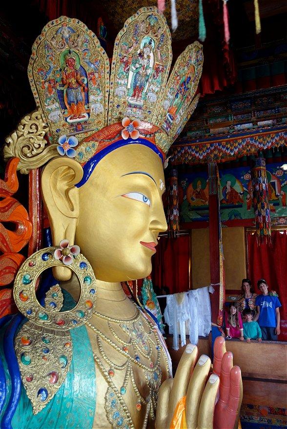 Le grand bouddha du Futur, monastère de Tiksey
