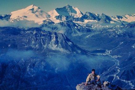 Val Claret et lac de Tignes, vue depuis le versant de la Grande Sassière (1965)