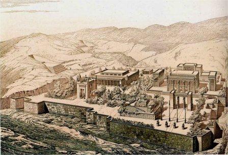 Reconstitution de Persépolis. Charles Chipiez, 1890.