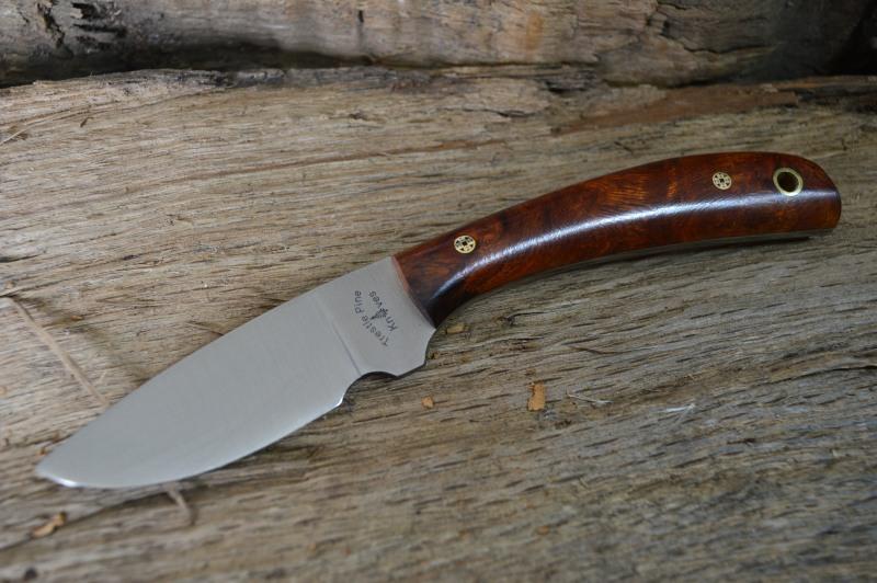 Trestle Pine Knives Buddy, with Exhibition Grade Desert Ironwood