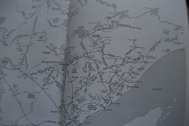 Map from Minnesota Logging Railroads , by Frank A. King