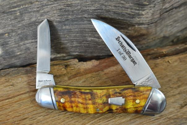 S&M 43 1/2 Half Whittler Golden Spalted Maple
