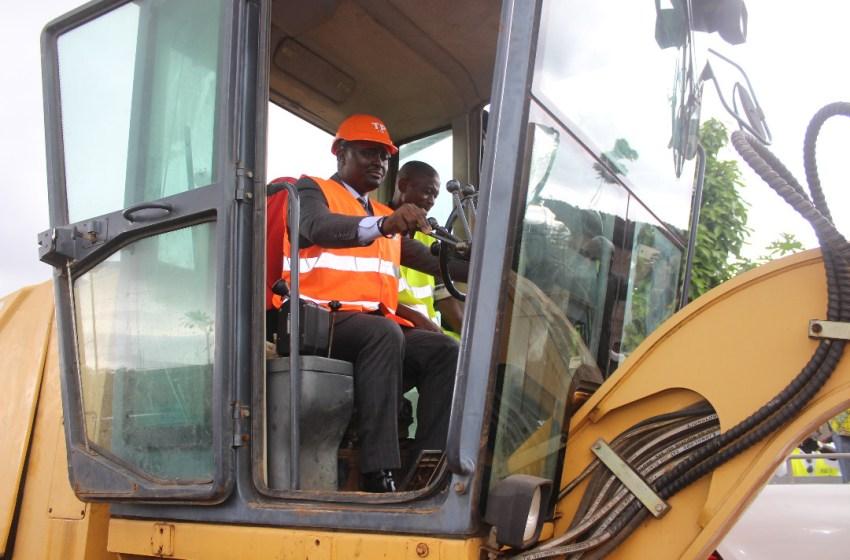 Lancement des travaux de la route de Bambouchine