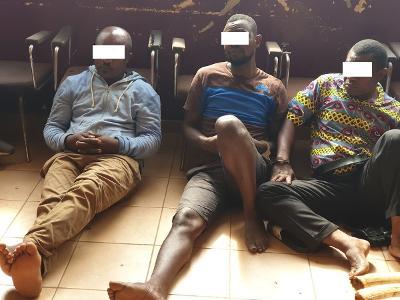 Quatre (4) trafiquants d'Ivoire saisis à Oyem