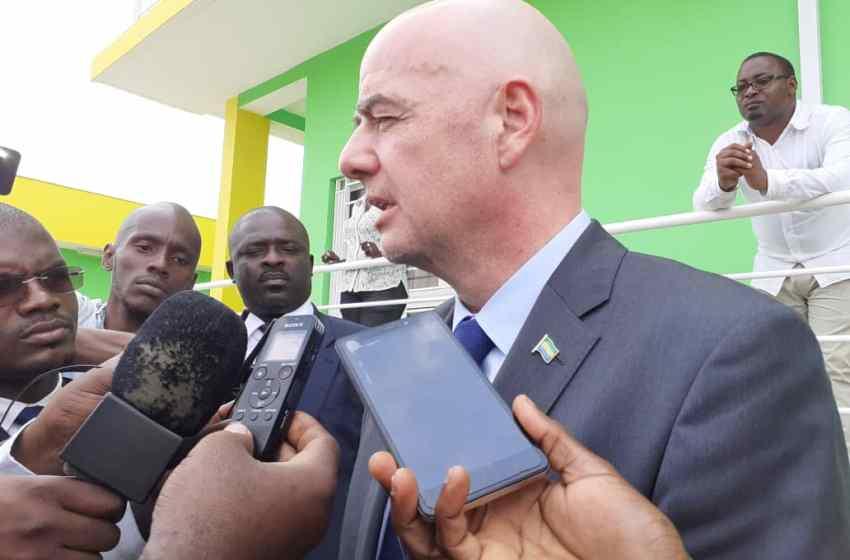 Gianni INFANTINO en visite au Gabon