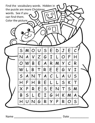 Merry Christmas Big Hungry Bear- Lesson Plans
