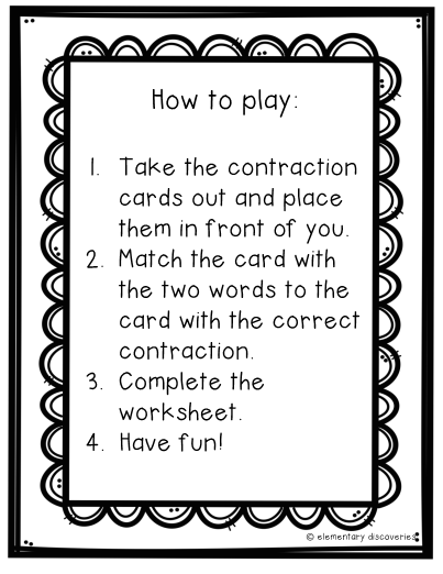 Monster Contractions Packet