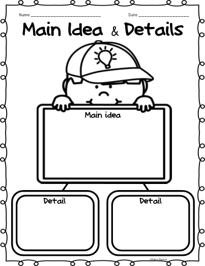 Main Idea Graphic Organizers!