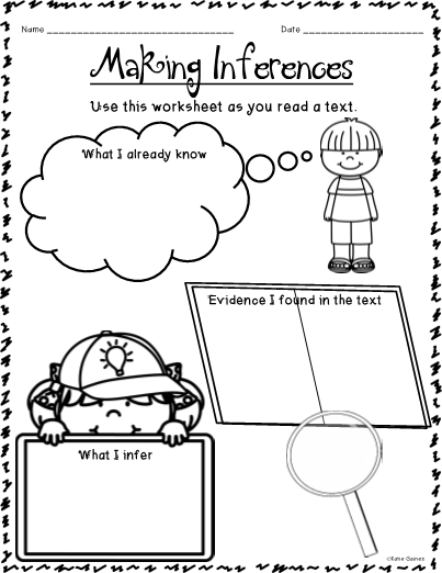 Making Inferences Graphic Organizers!