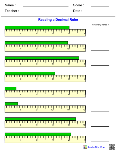Reading A Tape Measure Worksheet Answers : reading, measure, worksheet, answers, Ruler, Centimeters
