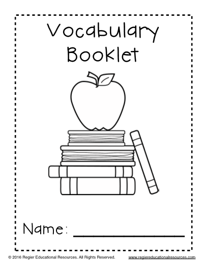 Vocabulary List Templates