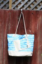Beach Bag XL, Blue TieDye