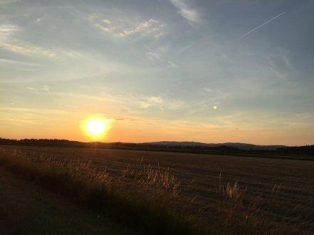Niederbayerischer Sonnenuntergang