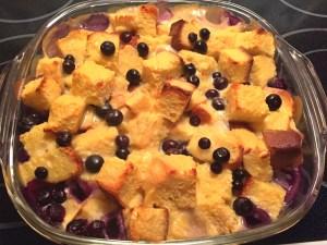 Blueberry Custard Bread Pudding