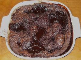 Self saucing chocolate pudding2