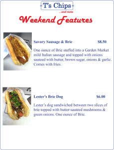 Weekend Features May 6 to 8, 2016
