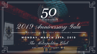 2019 T. Schreiber 50th Anniversary Gala Invitation Metropolitan Club NYC