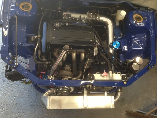 small resolution of one of a kind evo 8 stock block custom ff 6266 s3 e85 93 600whp engine bay