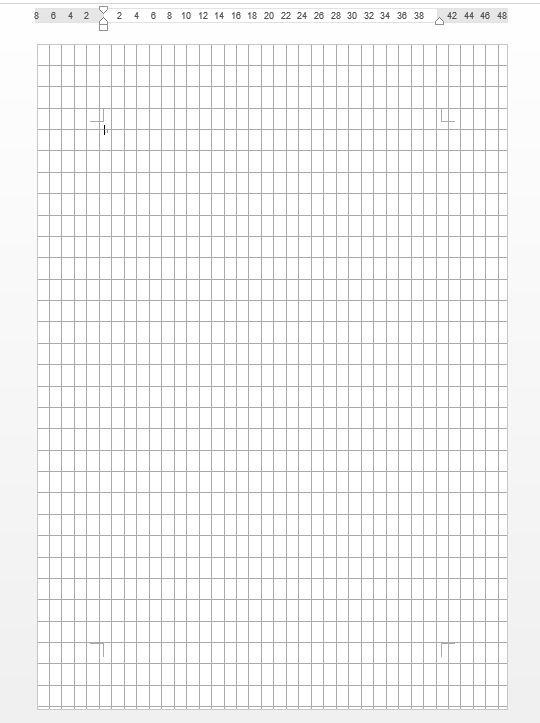 格子状のグリッド線が表示