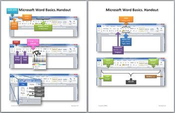 microsoft word 2010 handouts worksheets elementary students