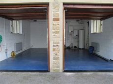 seamless garage floor tiles seamless domestic epoxy garage flooring installed in modern shed other