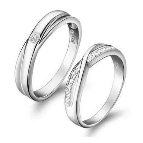 twist swiss diamond pave setting sterling silver lovers