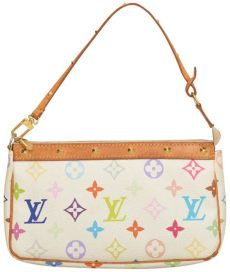louis vuitton multicolor pochette accessoires white louis vuitton pochette accessoires purse m51980 white multicolor monogram wristlet tradesy