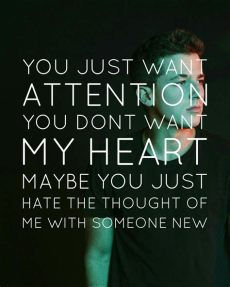 attention lyrics wallpaper puth attention i knew some that this song would describe them perfectly i