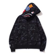 bape hoodie black bape dot camo shark wide zip hoodie black s fashion clothes on carousell