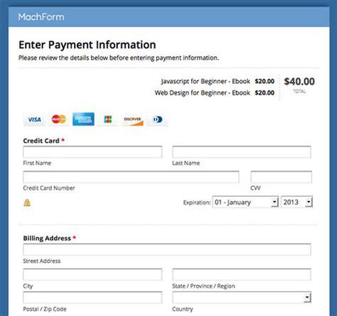 documentation payment html form builder online php form