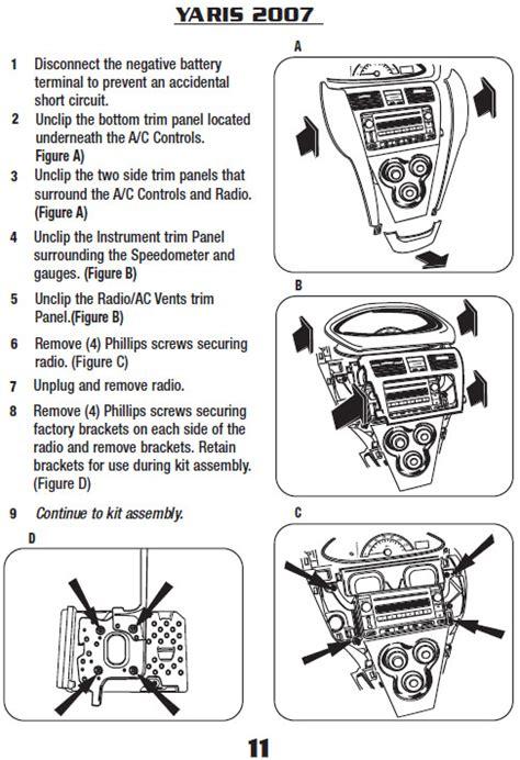 2007 toyota yarisinstallation instructions
