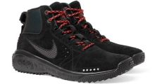 nike acg angels rest black nike acg s rest suede and mesh sneakers in black for lyst