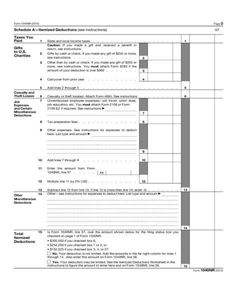 form 1040 nr nonresident alien income tax return