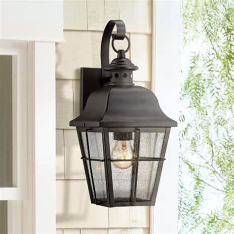 quoizel millhouse 15 1 2 high black outdoor