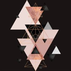 geometric triangles in blush and rose gold geometric triangles in blush and gold t shirt by jaggedhues design by humans