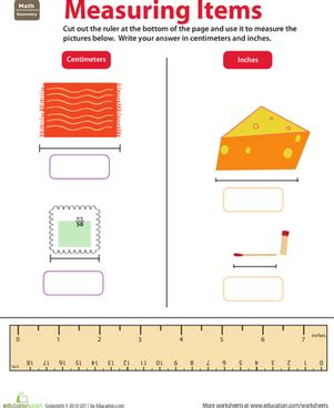 ruler reading centimeters inches worksheet education